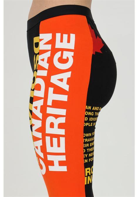 Leggings con maxi stampa frontale bicolor DSQUARED2 | Leggings | D8N473530018
