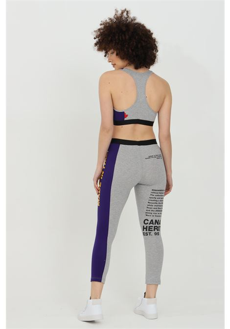 Leggings con maxi stampa frontale bicolor DSQUARED2 | Leggings | D8N473530038