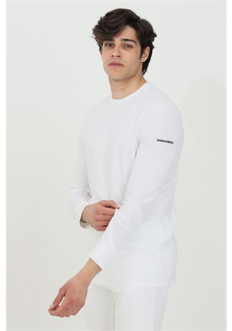 White t-shirt with long sleeves. Dsquared2 DSQUARED2 | T-shirt | D9M103540100