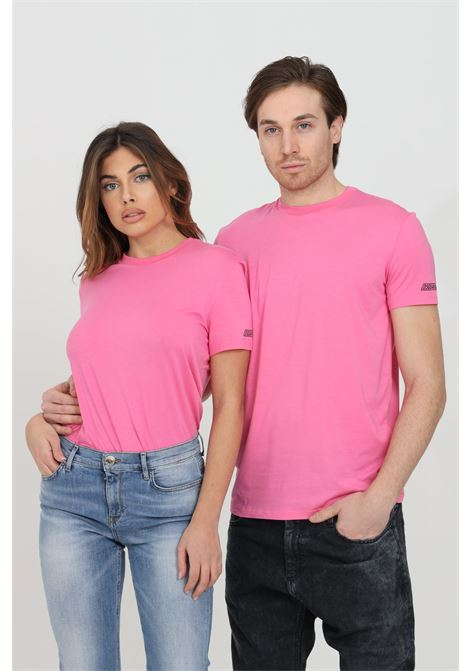 Fuchsia t-shirt with logo on the sleeve, short sleeves. Dsquared2  DSQUARED2 | T-shirt | D9M203480672