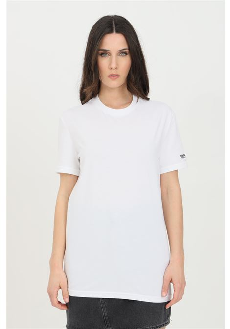 T-shirt unisex bianco dsquared2 a manica corta con logo sulla manica DSQUARED2 | T-shirt | D9M203520100