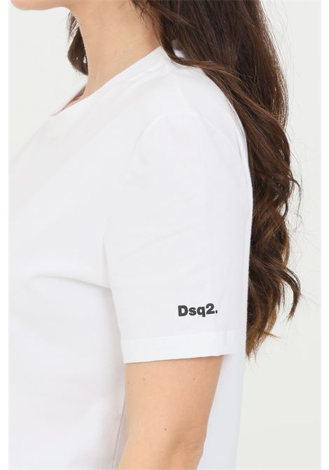 White t-shirt with logo on the sleeve, short sleeves. Dsquared2  DSQUARED2 | T-shirt | D9M203570100