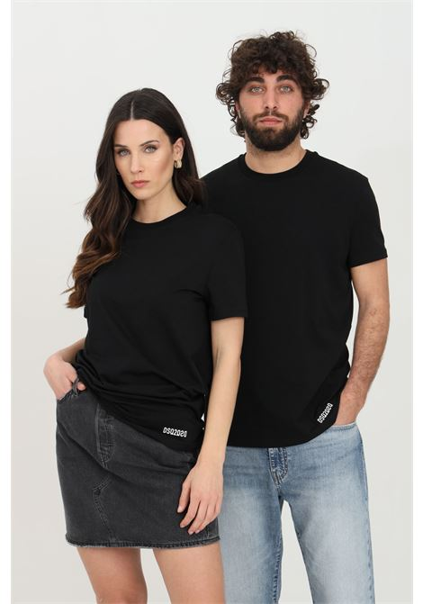 Black t-shirt with short sleeves. Basic model. Dsquared2 DSQUARED2 | T-shirt | D9X203490001