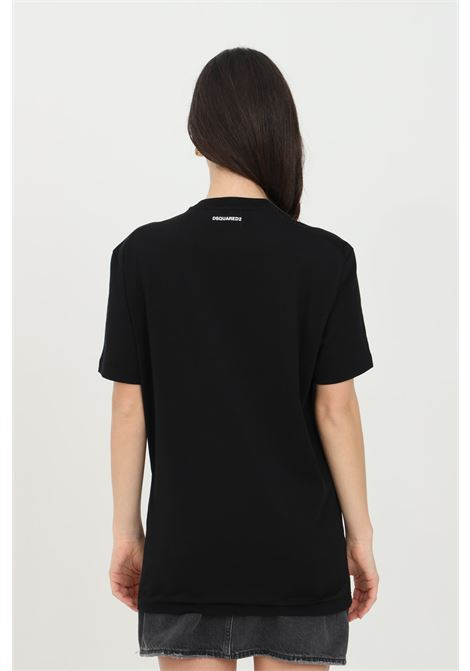 Black t-shirt with small logo on the back, short sleeve. Dsquared2  DSQUARED2 | T-shirt | D9X3C2370001