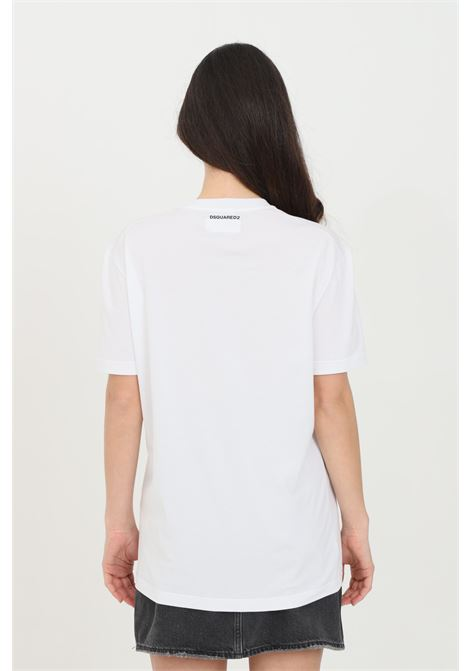 White t-shirt with small logo on the back, short sleeve. Dsquared2 DSQUARED2 | T-shirt | D9X3C2370100