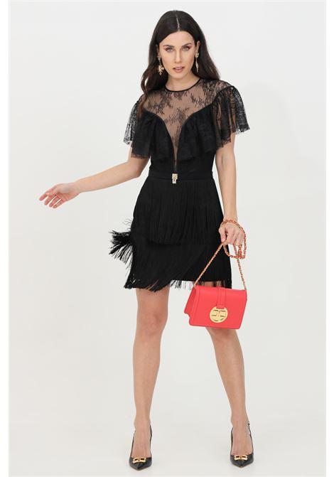 Mini dress trasparente in pizzo ELISABETTA FRANCHI | Abiti | AB03311E2110