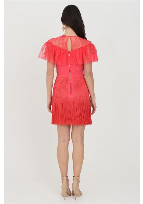 Woman dress solid color elisabetta franchi with flounces ELISABETTA FRANCHI | Dress | AB03311E2620
