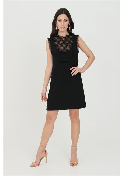 Black women's dress elisabetta franchi short ELISABETTA FRANCHI | Dress | AB11413E2110