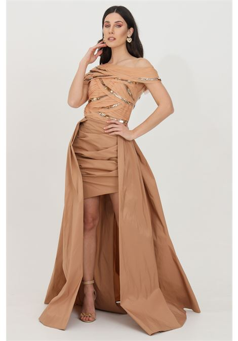 Dress woman phard elisabetta franchi with tail ELISABETTA FRANCHI | Dress | AB14411E2614