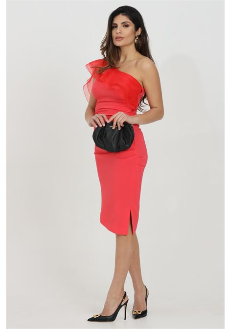 Asymmetrical dress with ruffles  ELISABETTA FRANCHI | Dress | AB76711E2620