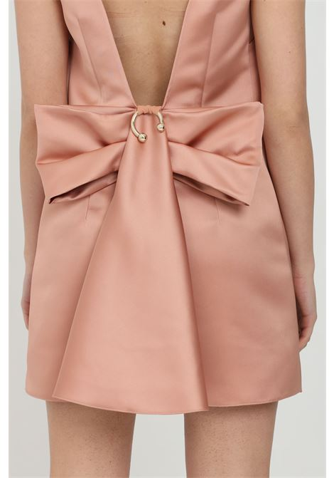 Pink Elisabetta Franchi dress in duchesse ELISABETTA FRANCHI   Dress   AB96011E2W71
