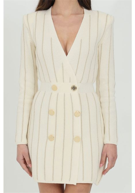 Double-breasted dress with long sleeves ELISABETTA FRANCHI | Dress | AM99Q11E2Q68