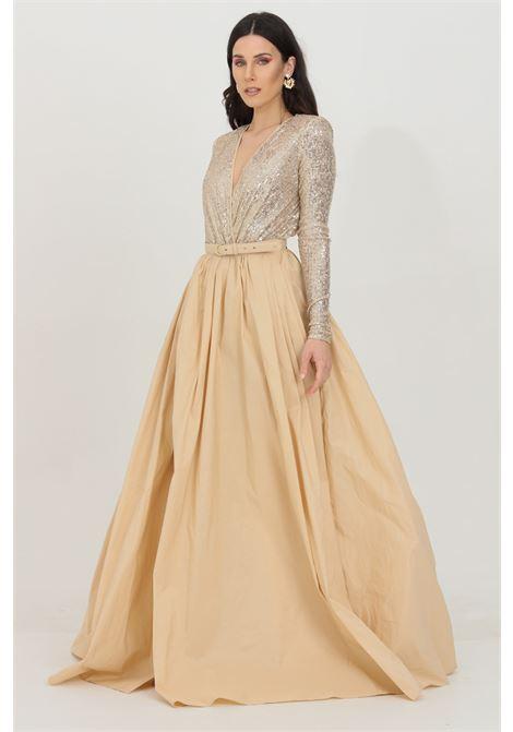 Red Carpet outfit with sequin bodysuit and taffeta skirt ELISABETTA FRANCHI | Skirt | BG00111E2Q61