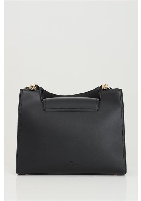Shopper donna nera elisabetta franchi con moschettoni in oro ELISABETTA FRANCHI | Borse | BS18A11E2110