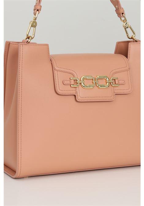 Shopper donna rosa elisabetta franchi con moschettoni in oro ELISABETTA FRANCHI | Borse | BS18A11E2W71