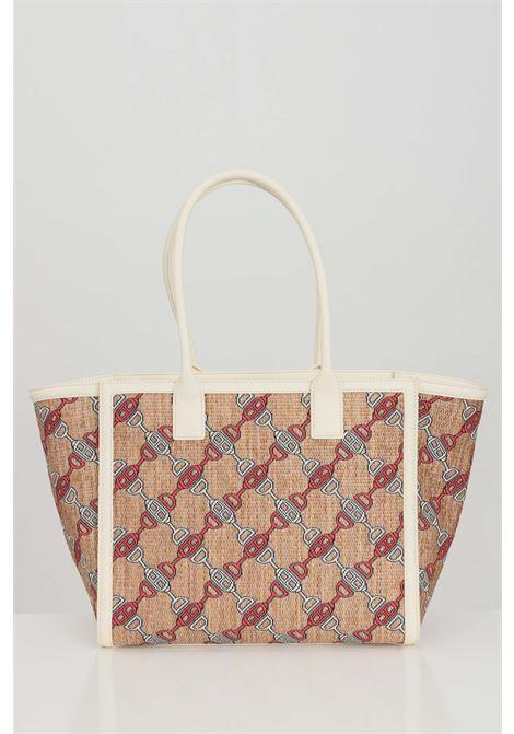 Shopper woman butter elisabetta franchi with print clamps ELISABETTA FRANCHI | Bag | BS32A11E2193