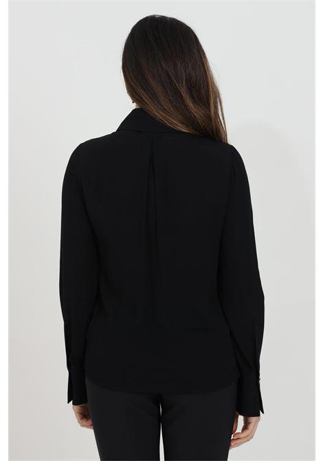 Camicia donna nera elisabetta franchi elegante con manica a sbuffo ELISABETTA FRANCHI | Camicie | CA28111E2110