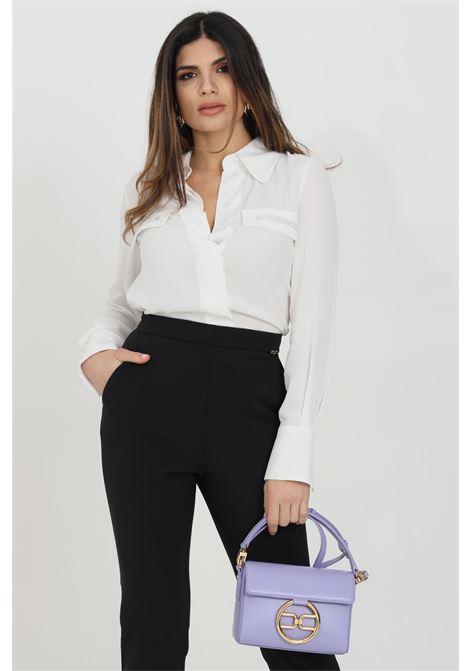 Camicia donna avorio elisabetta franchi elegante con manica a sbuffo ELISABETTA FRANCHI | Camicie | CA28111E2360