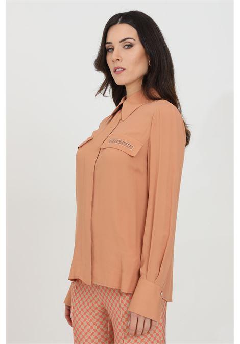 Camicia donna rosa gold elisabetta franchi elegante con manica a sbuffo ELISABETTA FRANCHI | Camicie | CA28111E2W71