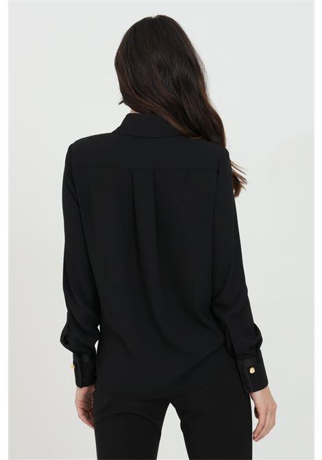 Camicia donna nera elisabetta franchi in georgette ELISABETTA FRANCHI | Camicie | CA29111E2110