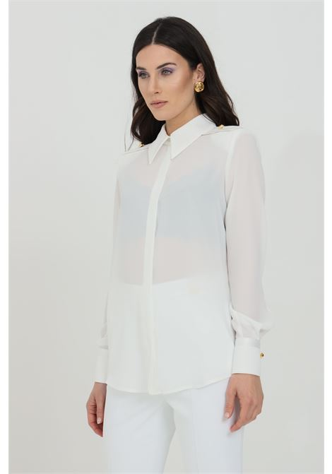 Camicia donna avorio elisabetta franchi in georgette ELISABETTA FRANCHI | Camicie | CA29111E2360