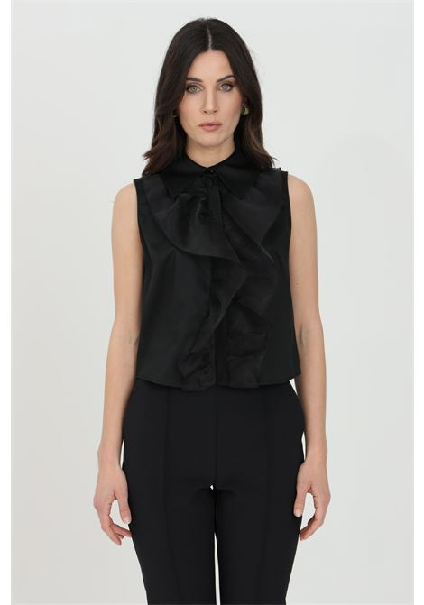 Camicia donna nera elisabetta franchi smanicata ELISABETTA FRANCHI | Camicie | CA30011E2110