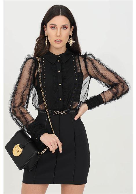 Camicia donna nera elisabetta franchi in pizzo ELISABETTA FRANCHI | Camicie | CA30811E2110