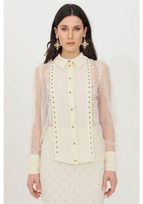 Camicia donna bianca elisabetta franchi in pizzo ELISABETTA FRANCHI | Camicie | CA30811E2193