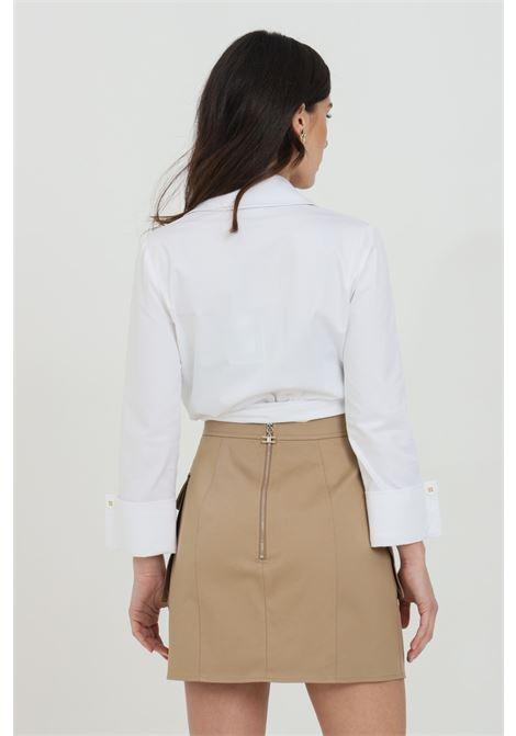Camicia donna bianca elisabetta franchi manica a 3/4 ELISABETTA FRANCHI | Camicie | CA31511E2100