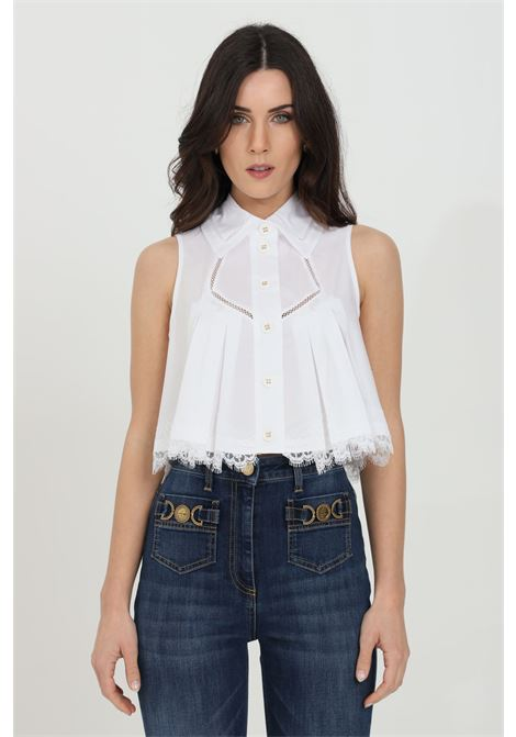 Camicia donna bianca elisabetta franchi con ricami in pizzo ELISABETTA FRANCHI | Camicie | CA31811E2100