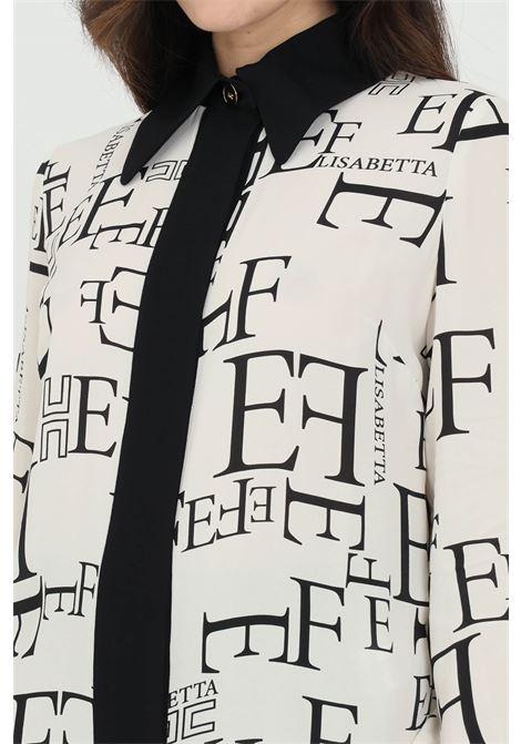 Camicia donna bianca elisabetta franchi con stampa ELISABETTA FRANCHI | Camicie | CA31911E2E84
