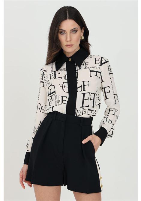 Elisabetta franchi white women's shirt with print ELISABETTA FRANCHI | Shirt | CA31911E2E84