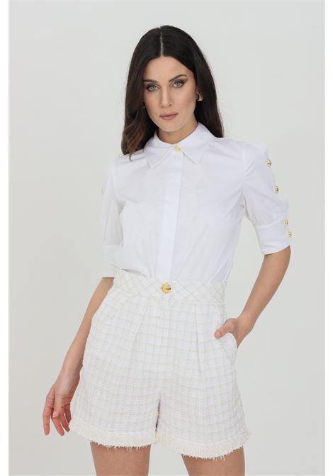 Camicia donna bianca elisabetta franchi in cotone ELISABETTA FRANCHI | Camicie | CA32011E2100