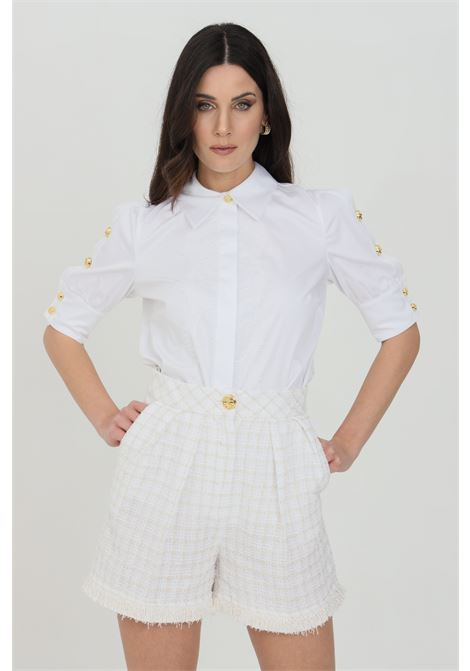Elisabetta franchi white cotton shirt for women ELISABETTA FRANCHI | Shirt | CA32011E2100