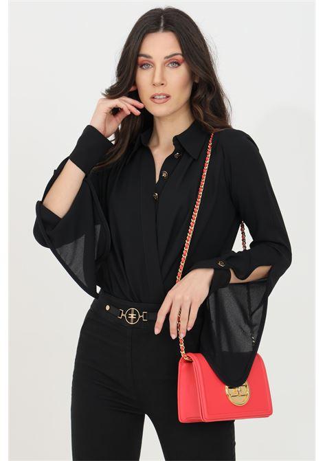 Camicia donna nera elisabetta franchi in georgette ELISABETTA FRANCHI | Body | CB01211E2110