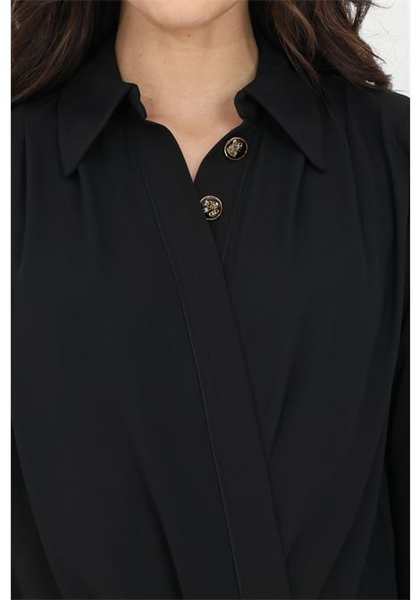 Elisabetta franchi black woman shirt in georgette ELISABETTA FRANCHI | Body | CB01211E2110