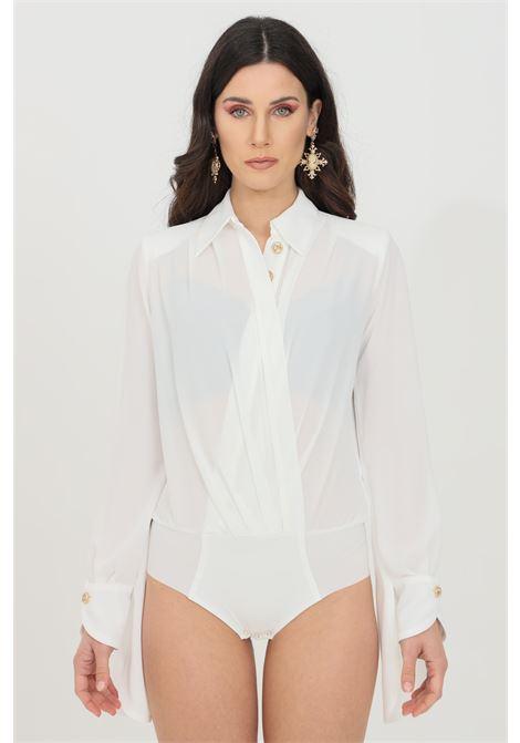 Elisabetta franchi white georgette woman shirt ELISABETTA FRANCHI | Body | CB01211E2360