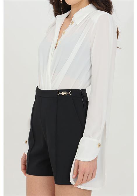 Camicia donna bianca elisabetta franchi in georgette ELISABETTA FRANCHI | Body | CB01211E2360