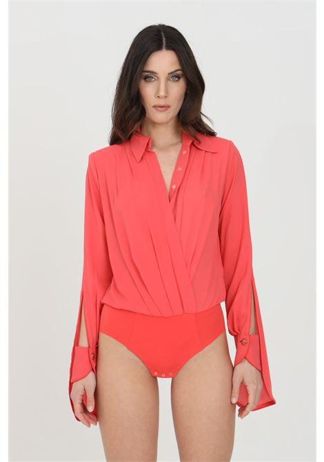 Elisabetta franchi amaranth woman shirt in georgette ELISABETTA FRANCHI | Body | CB01211E2620