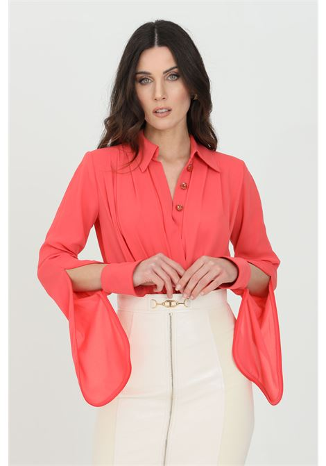 Camicia donna amaranto elisabetta franchi in georgette ELISABETTA FRANCHI | Body | CB01211E2620