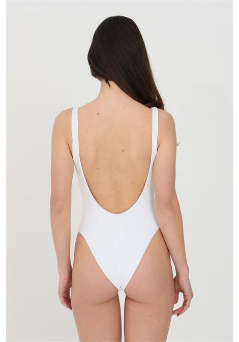 Elisabetta franchi women's white one-piece bikini with kiss print ELISABETTA FRANCHI | Beachwear | CS37B11E2816