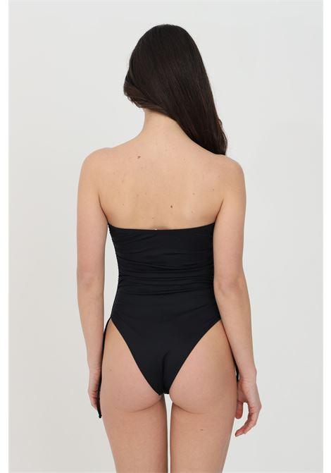 Elisabetta franchi women's black one-piece bikini with ajour embroidery ELISABETTA FRANCHI | Beachwear | CS38B11E2110