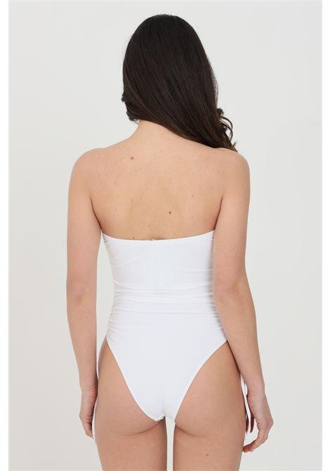 Elisabetta franchi women's white one-piece bikini with ajour embroidery ELISABETTA FRANCHI | Beachwear | CS38B11E2360