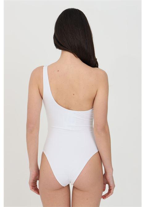 Bikini monospalla donna bianco elisabetta franchi con stampa ELISABETTA FRANCHI | Beachwear | CS39B11E2392