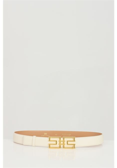 Elisabetta franchi butter woman belt with gold buckle ELISABETTA FRANCHI | Belt | CT01S11E2193