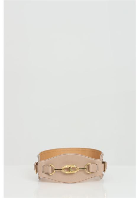 Cintura a vita alta jaquard con morsetto ELISABETTA FRANCHI | Cinture | CT06S11E2390
