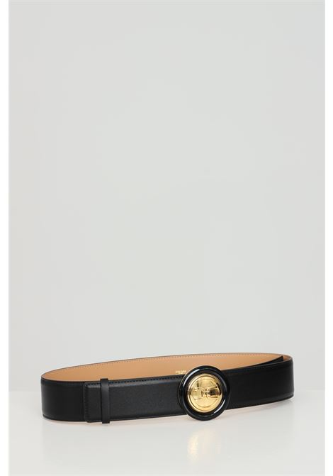 Elisabetta franchi black women's belt with round buckle ELISABETTA FRANCHI | Belt | CT08S13E2110
