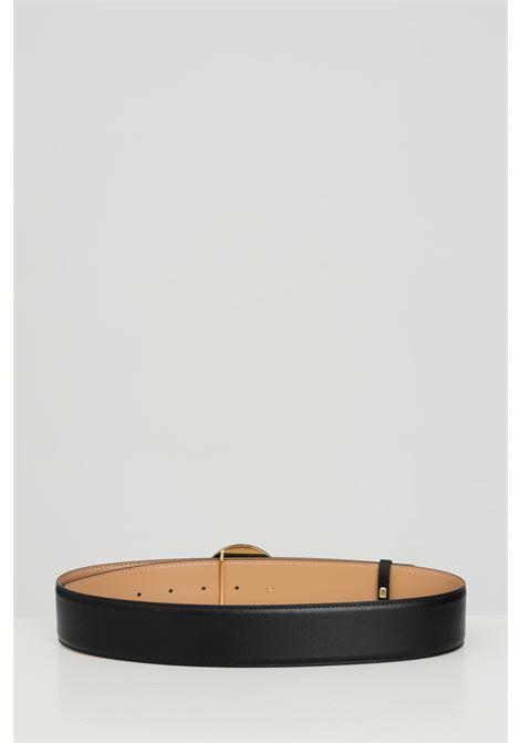 Cintura donna nera elisabetta franchi con fibbia tonda ELISABETTA FRANCHI | Cinture | CT08S13E2110