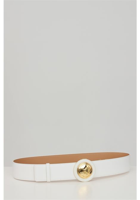 Elisabetta franchi ivory women's belt with round buckle ELISABETTA FRANCHI | Belt | CT08S13E2360