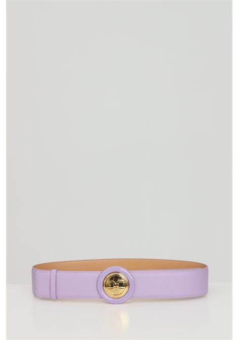 Cintura donna lavanda elisabetta franchi con fibbia tonda ELISABETTA FRANCHI | Cinture | CT08S13E2Q38